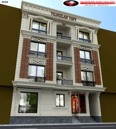 Classic Architecture, Architecture Plan, Residential Architecture, Architecture Details, Duplex House Design, House Front Design, Facade Design, Exterior Design, Classic Building
