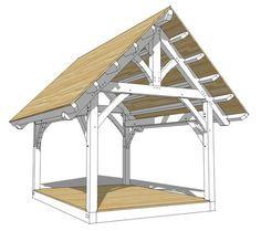 12x16 King Post Truss Plan - Timber Frame HQ - http://timberframehq.com/shop/12x16-king-post-truss-plan/?utm_content=buffera5911&utm_medium=social&utm_source=pinterest.com&utm_campaign=buffer