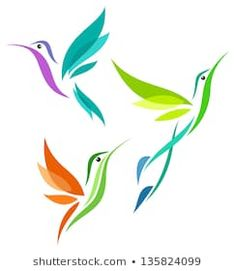 Find Stylized Birds - Hummingbirds in flight Stock Images in HD and millions of other royalty-free stock photos, illustrations, and vectors in the Shutterstock collection. Hummingbird Painting, Hummingbird Tattoo, Bird Wall Decals, Wall Stickers, Bird Template, Stencil Patterns, Animes Wallpapers, Mickey And Friends, Free Vector Art