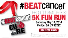 We Will Find A Cure / Bottomless Fun Run! Virtual Race - Register Now! ---racing races running walking endurance charity cancer causes Venice amazing cure Beat Cancer, I Cool, Venice, Charity, The Cure, Favorite Things, Walking, Running, Amazing