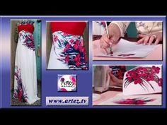 Vestido sublimado con diseño de amapolas - YouTube