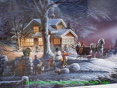 "Terry Redlin ""Winter Wonderland"" Signed &  Framed Print"