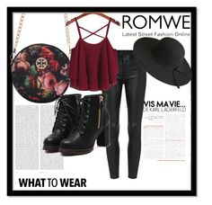"""""""romwe outfit"""" by margherita994 ❤ liked on Polyvore featuring Oris, outfit and romwe"""
