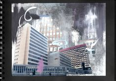 david hepher - Google Search Urban Painting, Henri Rousseau, Yayoi Kusama, Architectural Features, Gcse Art, Wild Nature, Urban Life, Built Environment, Urban Landscape