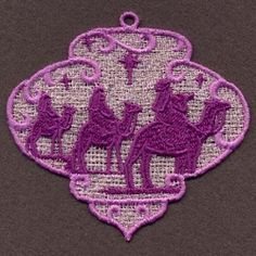 FSL Nativity Ornaments 3 - 4x4 | What's New | Machine Embroidery Designs | SWAKembroidery.com Ace Points Embroidery