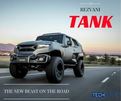 #NewBlogPost Rezvani Tank! This truck is a BEAST! Check out our overview about the #RezvaniTank on our website by clicking below! The technology in this truck is crazy! It really looks like something from the Fast and Furious or Call of Duty! #RezvaniMotors #TechDaddy #TruckLovers #CarTech #Rezvani
