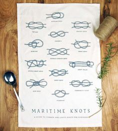 Maritime Knots Kitchen Towel by The Wild Wander on Scoutmob