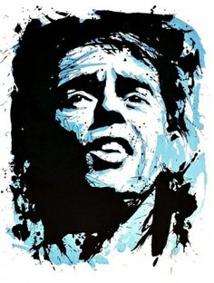 Lithographie - Jean-Pierre Blanchard - Jacques Brel