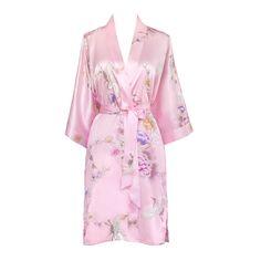 Chrysanthemum & Crane Kimono Robe
