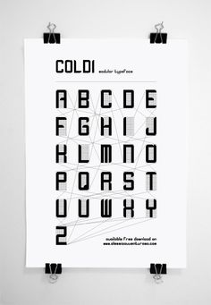 Free Font Friday: COLDI