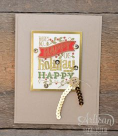 Stampin' Dolce: week one - Dolce 12 days of Christmas. My Favorite Gold Stampin' Up! products