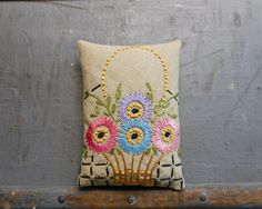 Hand Embroidered Organic Lavender Sachet by RosaMeyerCollection