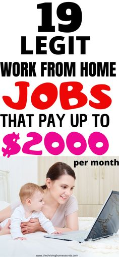 Legit work from home jobs that will enable you to make extra income. 19 Easy online jobs anyone can do with little to no experience. Stay at home mom jobs. Earn More Money, Ways To Earn Money, Earn Money Online, Make Money Blogging, Way To Make Money, Money Fast, Legit Work From Home, Online Work From Home, Work From Home Jobs