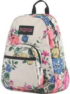 JanSport Half Pint FX 10L Backpack Pretty Backpacks, Jansport Superbreak Backpack, First Day Of School Outfit, Half Pint, Floral Bags, Quilted Handbags, Designer Backpacks, Big Bags, Backpack Purse