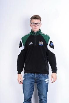Adidas Newcastle United Mens XL Sweatshirt Sport Black Football Club
