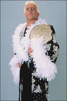 "Ric ""Nature Boy"" Flair WCW World Heavyweight Wrestling Champion Watch Wrestling, Wrestling Stars, Wrestling Wwe, World Championship Wrestling, Wwe Tna, Ric Flair, Wwe Champions, Wrestling Superstars, Wwe Wrestlers"