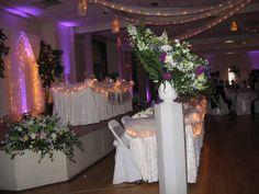 Faerie lights and purple uplighting make for an elegant, beautiful touch #diyuplighting