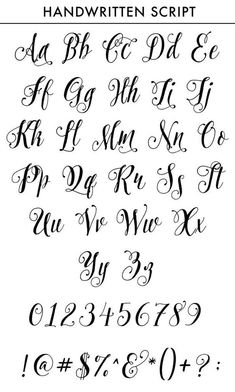 Personalized Custom Monogram Tattoo Id … - diy best tattoo ideas Calligraphy Fonts Alphabet, Tattoo Fonts Alphabet, Cursive Alphabet, Tattoo Lettering Fonts, Hand Lettering Alphabet, Lettering Styles, Pretty Fonts Alphabet, Learn Calligraphy, Fonts For Tattoos