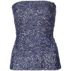 P.A.R.O.S.H Sequin tube top ($330) ❤ liked on Polyvore