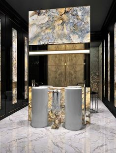 Find the best ideas and inspiration for luxury bathroom interior design and decoration at Maison Valentina. And while you're at it, find the most exquisite bathroom furniture, such as washbasins and freestandings there as well! Luxury Interior Design, Bathroom Interior Design, Home Design, Modern Design, Bathroom Designs, Bathroom Trends, Design Ideas, Design Projects, Design Hotel
