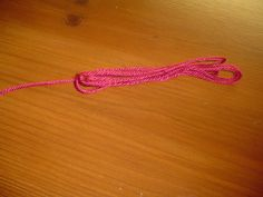 Red string (it looks pink, but I promise it's red.)