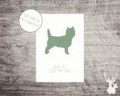 Personalised Cairn Terrier Illustrated 'Love my door FallowAndRoe