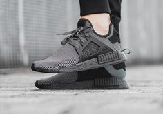 Adidas Nmd Primeknit Triple Black Boost On Feet Adidas Nmd, Adidas Sneakers, Triple Black, Designer Shoes, All Black Sneakers, Kicks, Slip On, Footwear, Mens Fashion