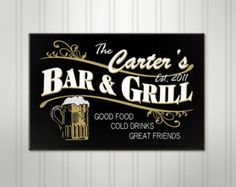 Home Bar Signs, Pub Signs, Beer Signs, Wood Signs, Man Cave Diy, Man Cave Home Bar, Classy Man Cave, Deco Cafe, Ultimate Man Cave