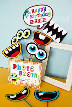 Photo booth for birthday party