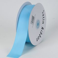 Light Blue Satin Ribbon Single Face 7/8 inch 100 Yards * Find out more about the great product at the image link.