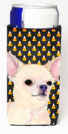 Chihuahua Candy Corn Halloween Portrait Ultra Beverage Insulators for slim cans SS4265MUK