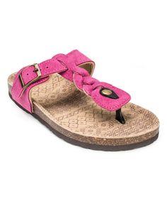Fuchsia Marie Terra Turf Suede Sandal by MUK LUKS #zulily #zulilyfinds