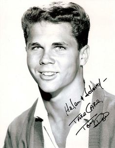 An autograph pic from Tony Dow. Tony Dow, Leave It To Beaver, Old Tv Shows, Growing Up, Tv Series, Teen, Actors, Actor