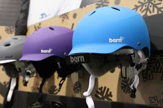 Bern Helmet! Just ordered a purple one with a white brim after trying on the men's watts and women's berkely for sizes :) Being in Canada sometimes sucks for selection..