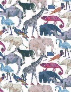 Stragier - Liberty Tana Lawn - Queue For The Zoo - G