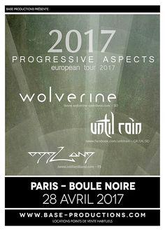Wolverine + Until Rain + Oddland ce vendredi à Paris @ LA BOULE NOIRE / BASE Productions