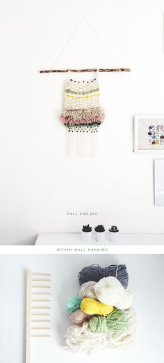 Fall For DIY tutorial Woven Wall Hanging http://fallfordiy.com/blog/2014/05/06/diy-woven-wall-hanging/