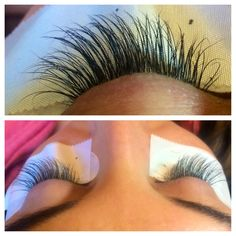 """Eyelash extensions. These are minks. A lot of places claim that they do minks. Trust me, I've had the """"pleasure"""" of relashing those minks, you'll save $20 and ruin your lashes. As you can see, they are very thin, not identical, and provide the natural messy look, as opposed to thick synthetic look. That being said, some people might want that, but that's not what I offer. Feel free to message me, the schedule is getting very busy, so make sure your lashes are on my books!"""