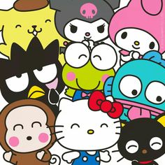 Let's celebrate, it's World Smile Day today! Sanrio Wallpaper, My Melody Wallpaper, Sanrio Hello Kitty, Hello Kitty My Melody, Hello Kitty Backgrounds, Hello Kitty Wallpaper, Badtz Maru, Hello Kitty Characters, Hello Kitty Tattoos