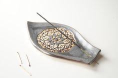 Grey Incense Holder, Incense Burner, Incense Dish, Incense Tray, Ceramics and Pottery, Handmade Incense Burner, Ceramic Plate, Meditation