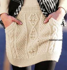 Вязаная юбка спицами с ромбами - СХЕМЫ http://mslanavi.com/2017/02/vyazanaya-yubka-spicami-s-rombami/