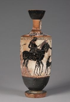Black-Figured Lekythos, c. 500 BC Greece, late 6th century BC