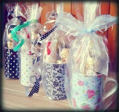 How about a tea break treat? China mugs with treats inside!!