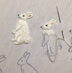Embroidery rabbit: