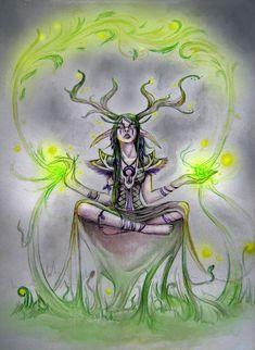 """The druid"" World of Warcraft fan art by NightFlame666.deviantart.com"