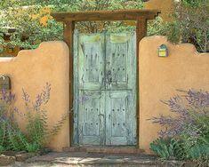 Southwest Decor, Rustic Door Art Print, Santa Fe Decor, Southwestern P… Teal Door, Turquoise Door, Orange Door, Southwest Art, Southwest Style, Southwest Decor Santa Fe, Southwestern Doors, Santa Fe Decor, Santa Fe Home