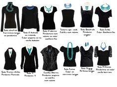 tipos de colares com diferentes tipos de blusa