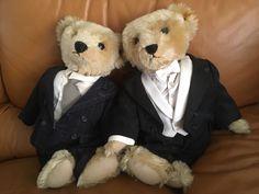 NWT Steiff Ralph Lauren Polo Bear Chairman of the Board Pinstripe Suit Growler #SteiffofGermany