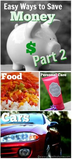 Easy Ways To Save Money {Part 2} How to save money on cars, medical expenses, car maintenance, dining out and more! #savemoney #moneysavingideas