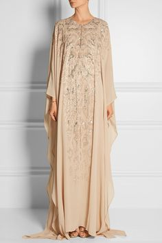 Roberto Cavalli | Embellished silk-georgette gown | NET-A-PORTER.COM